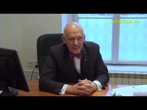 Wywiad białoruskiej telewizji z Januszem Korwin-Mikke