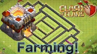 "Clash of Clans - ""NEW UPDATE!"" TH11 FARMING BASE! CoC BEST TOWN HALL 11 HYBRID BASE DEFENSE"