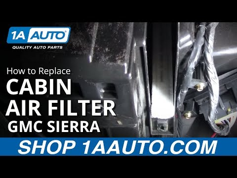 How To Install Replace Cabin Air Filter Chevy Silverado Suburban Tahoe Sierra 99