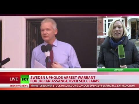 Sweden Upholds Arrest Warrant For Assange Over Sex Claims video