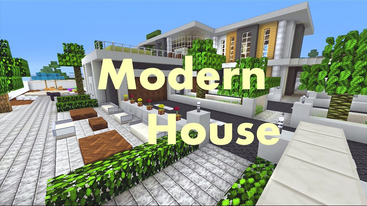 Minecraft xbox 360 modern house tutorial house 3 1 for Tuto maison moderne minecraft xbox 360