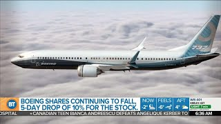 Boeing shares continue to fall, and other top business news