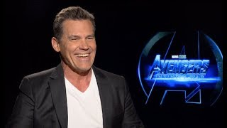 Josh Brolin interview - Thanos in AVENGERS INFINITY WAR (unedited)