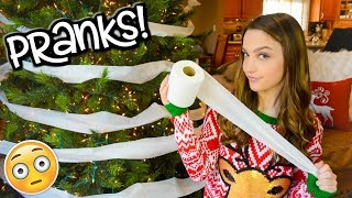 Christmas Pranks for the Holidays! SIBLING PRANK WARS!!