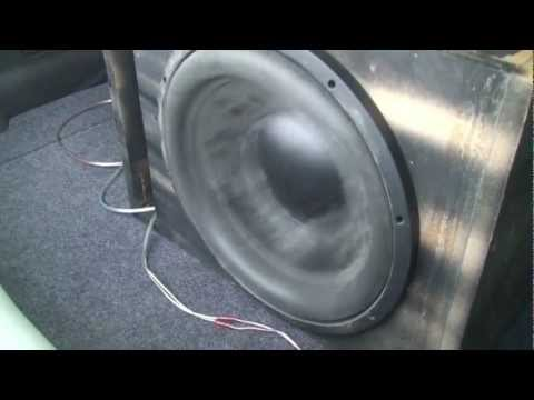 trying to blow a powerful 15&quot; subwoofer, playing low bass notes