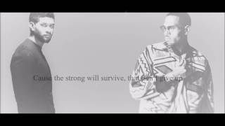 Usher ft. Chris Brown - All Falls Down Lyrics HD