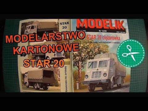 Modelarstwo Kartonowe - Modelik Star 20 #1