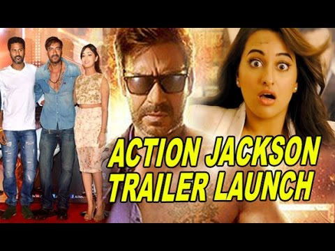 Ajay Devgn, Yami Gautam & Prabhu Deva Launches 'Action Jackson' Movie Official Trailer