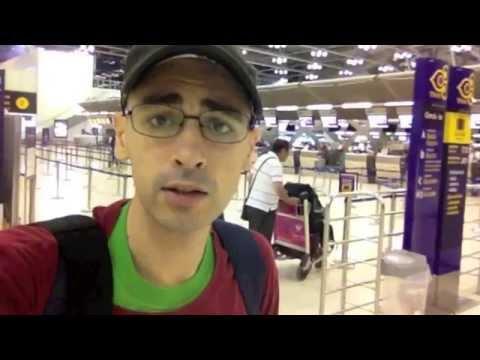 Checking-in at Suvarnabhumi Airport in Bangkok, Thailand