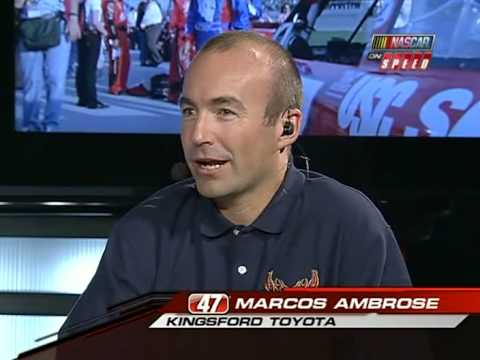 Marcos Ambrose and Michael Waltrip on NASCAR Trackside Video