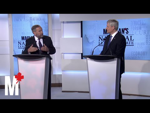 Harper and Mulcair spar over Putin and Ukraine: Maclean's debate