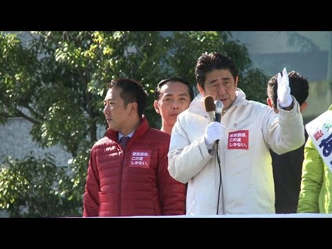 Japanese PM Shinzo Abe hits the campaign trail in Tokyo