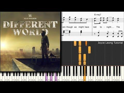 Alan Walker - Different World Ft Sofia Carson, CORSAK, K-391 (Piano Tutorial)