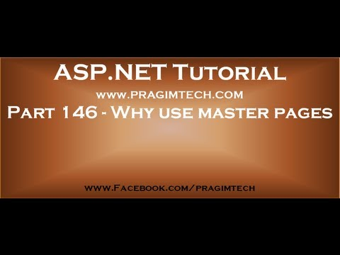 Part 146   Why use master pages in asp net