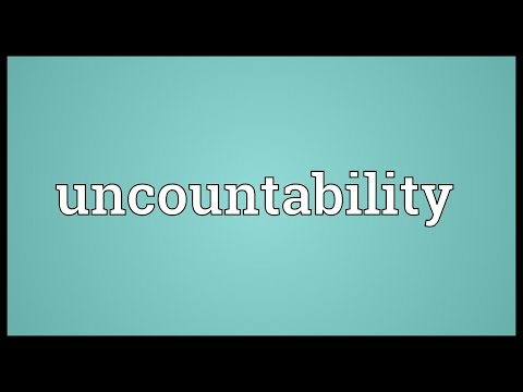 Header of Uncountability