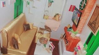 Giới thiệu căn phòng khách của búp bê barbie # nâng cấp 3 (My Doll Living Room ) | Trực Thành |♡