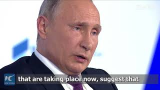 China is heading for the future: Russian President Putin