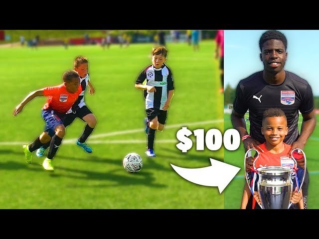 I Donated a Kid 100 Football Boots If His Team Wins Soccer Tournament 9 YEAR OLD RONALDO