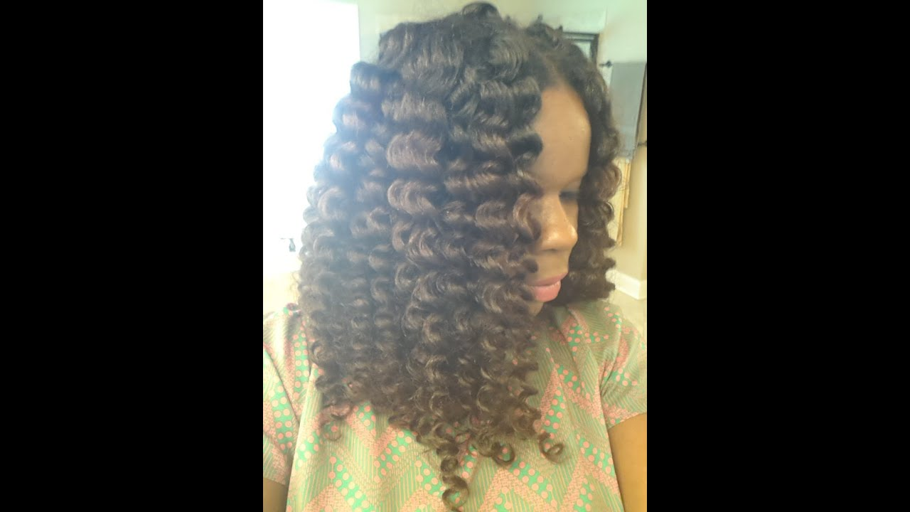 Stretching Natural Hair With Flexi Rods Flexi Rod Set on Natural Hair
