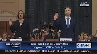 House Impeachment Inquiry Hearing - Hill & Hale Testimony