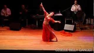 Giselle Belly Dancer Performing - Arab Quarter Event - September 2012 راقصة شرقية