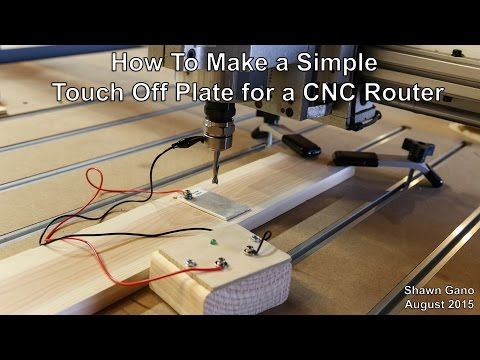 Make a Simple Touch Off Plate for a CNC Router
