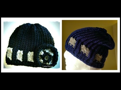 Loom Knit HAT - The Belt Loop Beanie with a Slouchy Option on a Round Loom