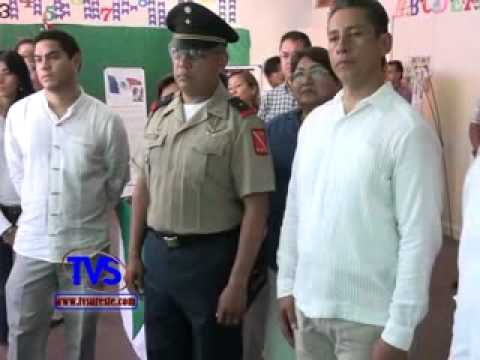 Tvs Noticias.- AUTORIDADES DE MINATITLAN INAUGURAN JORNADA CÍVICO PATRIÓTICA