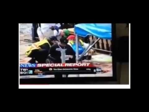 BOSTON - another inside job PART 1- MISSING BLOOD from LIVE ABC news report -