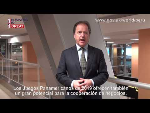 Minister Hugo Swire  impressed by the business opportunities in Peru