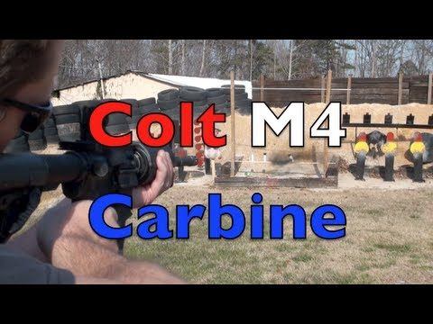 Colt M4 Carbine Shooting