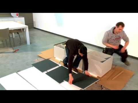 Cube cabinet assembly