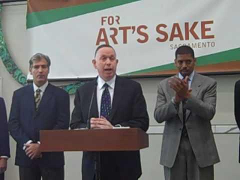 Mayor Kevin Johnson's For Art's Sake Press Conference Part II, 10.9.09, Sacramento Convention Center