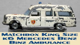 Matchbox Restoration King Size K6 Mercedes Benz Binz Ambulance