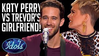 JUDGE VS GIRLFRIEND! Everyone LOVES Trevor Holmes... | American Idol 2018 Hollywood Audition