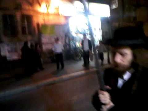 Bored Yerushalmi's Doing Daily Protest Down Kikar Shabbos Near Mir Yeshiva, Jerusalem