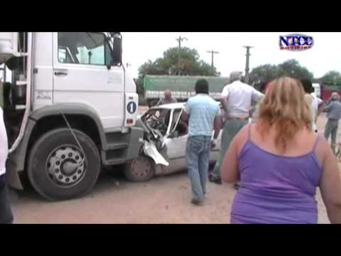 QUIMILÍ - Accidente en rotonda sur deja un herido grave (NTCC Noticias)