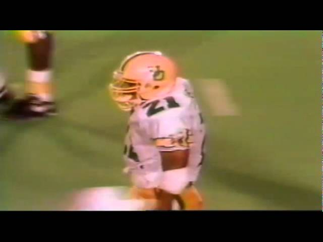 Oregon RB Sean Burwell 29 yard gain on screen pass vs. texas Tech 9-14-91