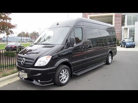 2010 Mercedes-Benz Sprinter Custom Limousine Start Up. Engine. and In Depth Tour