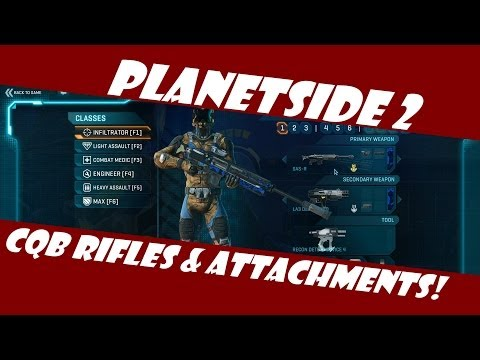 Planetside 2: Best CQB Sniper Rifle and Attachments!