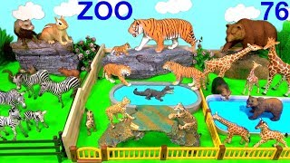 Learn Wild Animal and Zoo Animals Names Education Video Animal Toys For Kids