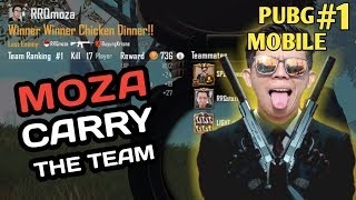 MOZA JADI CARRY DI TEAM WITH Stozie, Bianca, & DrkSide - PUBG MOBILE INDONESIA