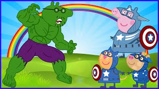 PEPPA PIG VS HULK VS CAPTAIN AMERICA VS IRON MAN VS ANGRY BIRDS NEW DISGUISE