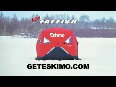 Worlds Fastest Folding Ice Fishing Shanty | How To Save Money And Do ...