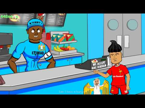 Coutinho trolls Kompany! OR DOES HE? Liverpool vs Man City 2-1 Parody (Football Cartoon)