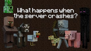 What Happens When The Server Crashes - Minecraft