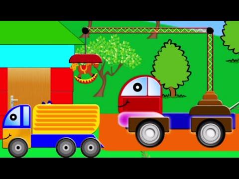 Машинки.Строим детский садик. Машины для детей. Мультики про машинки.