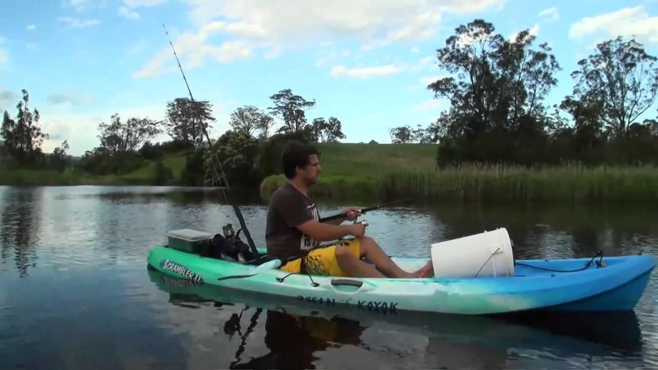 Ocean kayak scrambler 11 demonstration for web site youtube for Ocean kayak fishing