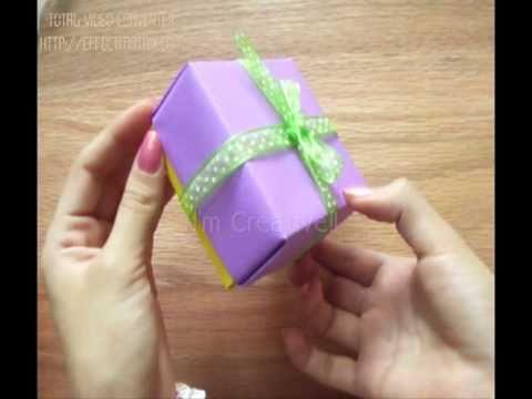 Caja de papel cartulina etc f cil youtube - Como hacer cajitas de cartulina ...