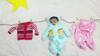 DIY-Monthly baby photo shoot at home||1to6 months pic ((creative photography))